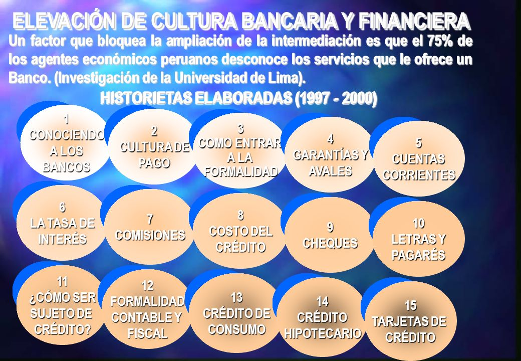 ELEVACIÓN DE CULTURA BANCARIA Y FINANCIERA