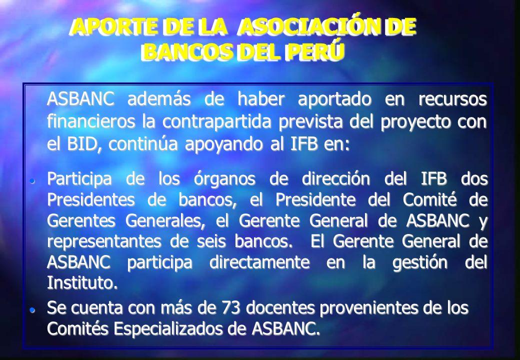APORTE DE LA ASOCIACIÓN DE BANCOS DEL PERÚ
