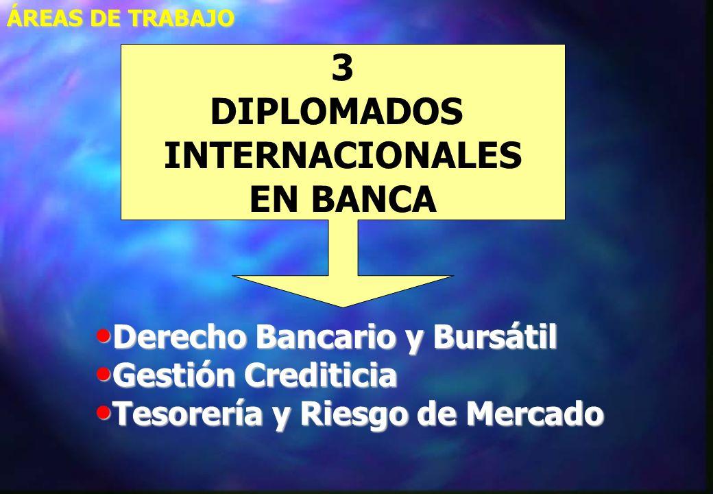3 DIPLOMADOS INTERNACIONALES EN BANCA