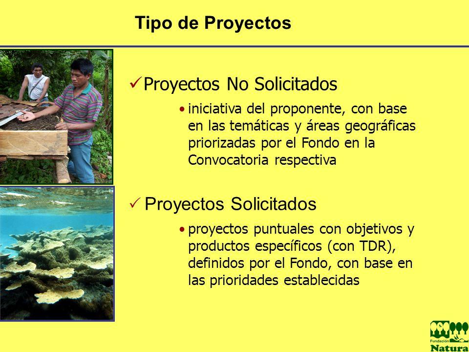 Proyectos No Solicitados