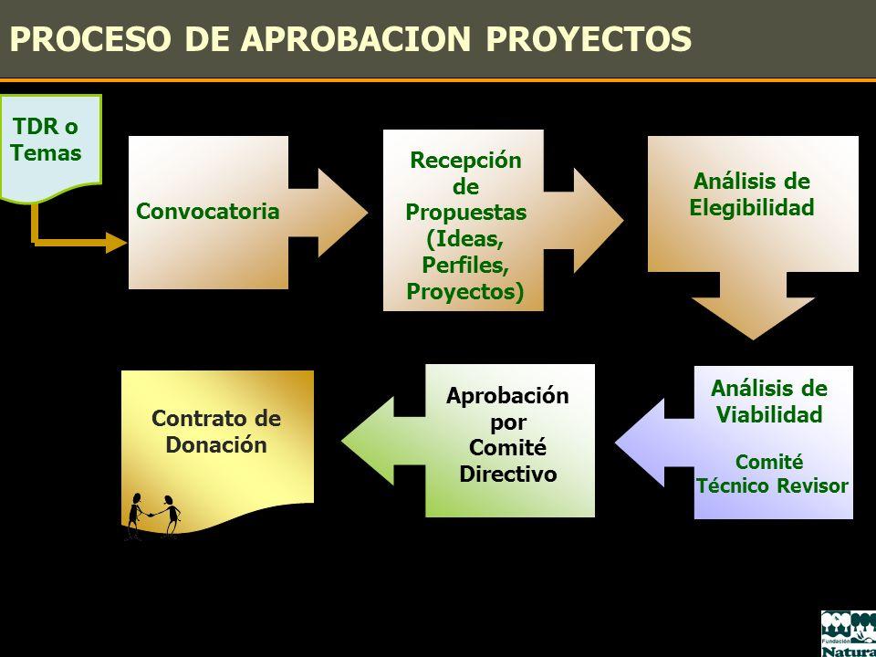 PROCESO DE APROBACION PROYECTOS