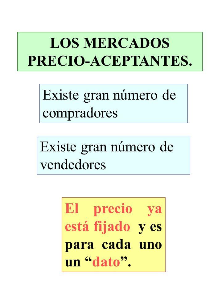 LOS MERCADOS PRECIO-ACEPTANTES.