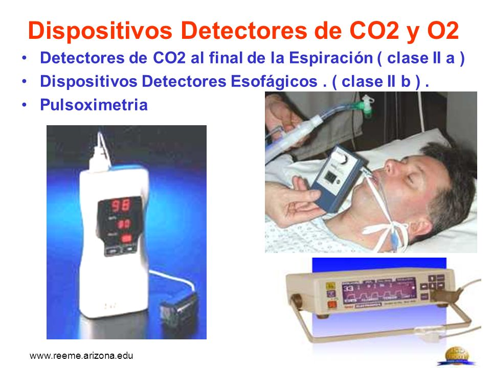 Dispositivos Detectores de CO2 y O2