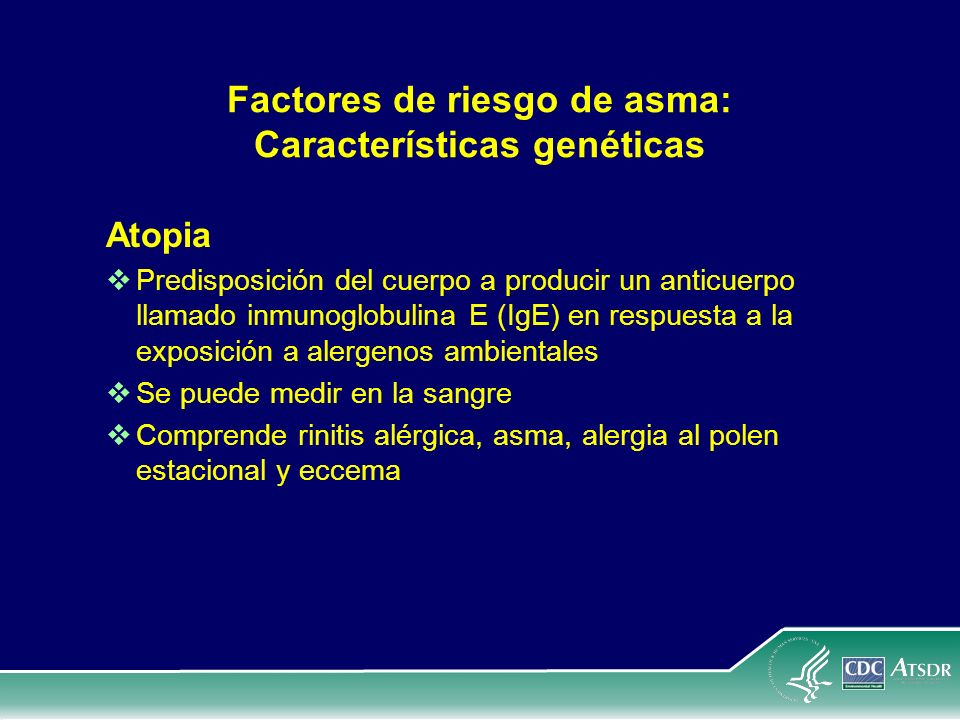 Factores de riesgo de asma: Características genéticas