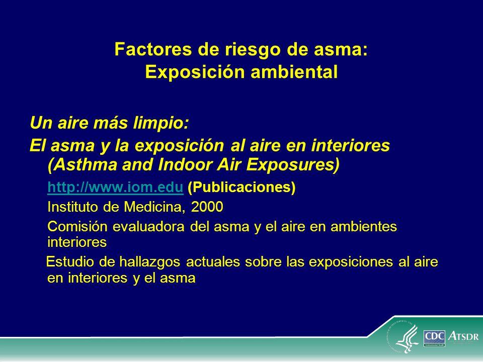 Factores de riesgo de asma: Exposición ambiental