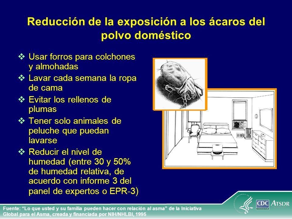 Reducción de la exposición a los ácaros del polvo doméstico
