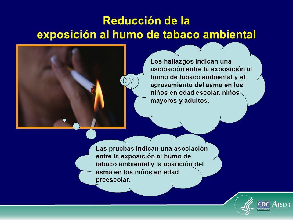 Reducción de la exposición al humo de tabaco ambiental