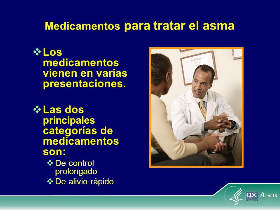Medicamentos para tratar el asma