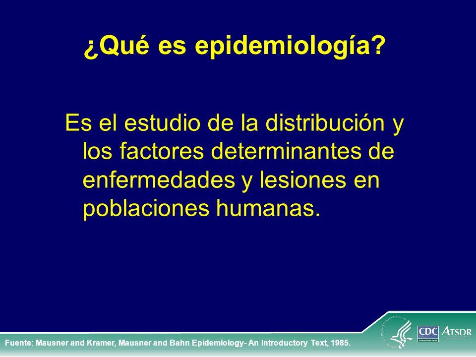 ¿Qué es epidemiología Es el estudio de la distribución y los factores determinantes de enfermedades y lesiones en poblaciones humanas.