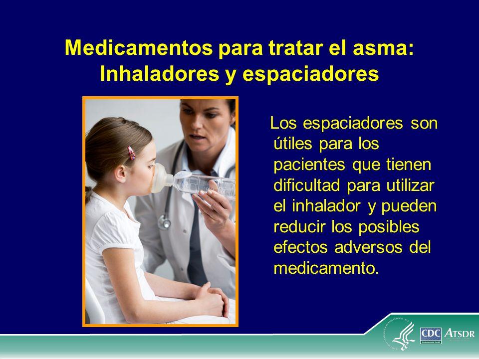 Medicamentos para tratar el asma: Inhaladores y espaciadores