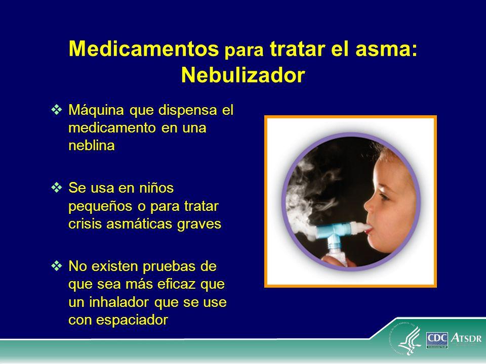 Medicamentos para tratar el asma: Nebulizador