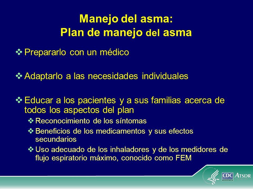 Manejo del asma: Plan de manejo del asma