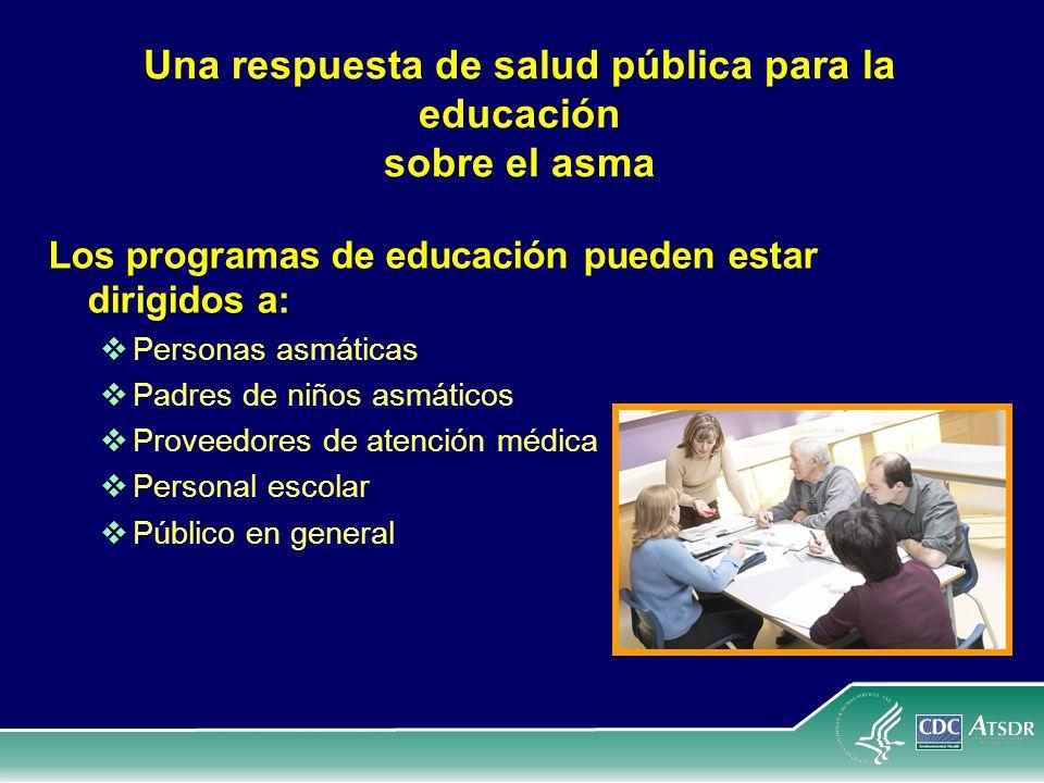 Una respuesta de salud pública para la educación sobre el asma