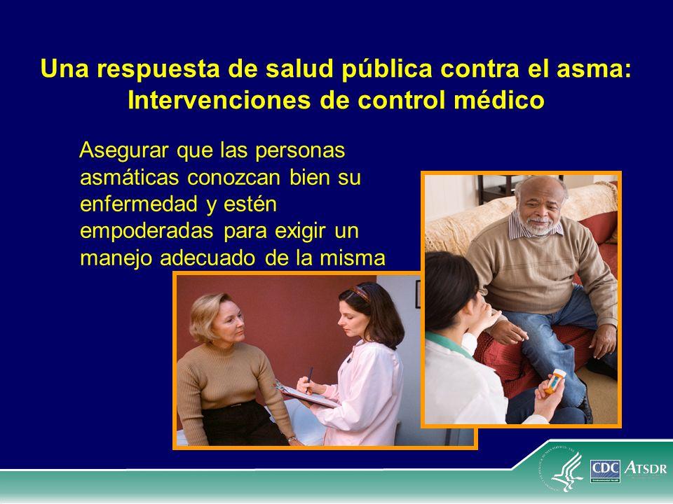 Una respuesta de salud pública contra el asma: Intervenciones de control médico
