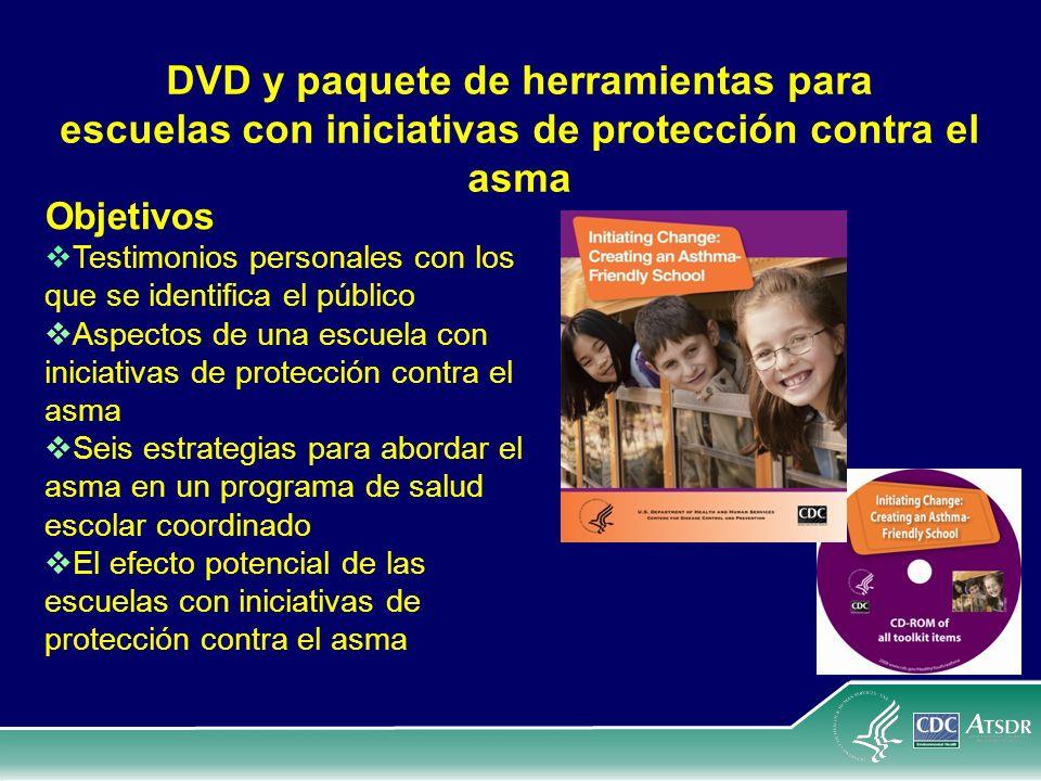 DVD y paquete de herramientas para escuelas con iniciativas de protección contra el asma