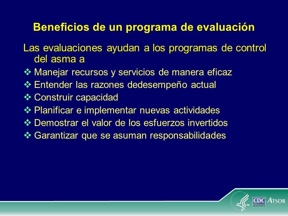 Beneficios de un programa de evaluación