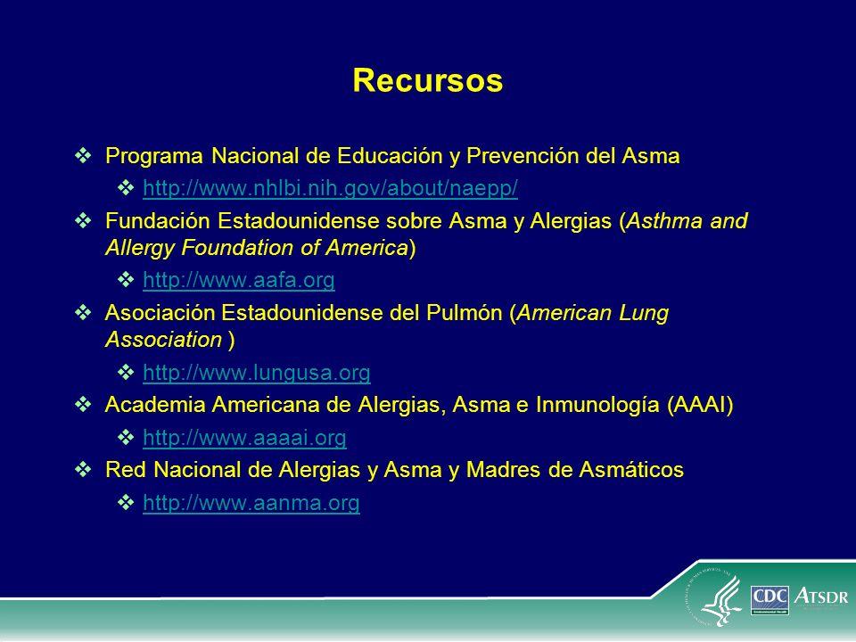 Recursos Programa Nacional de Educación y Prevención del Asma