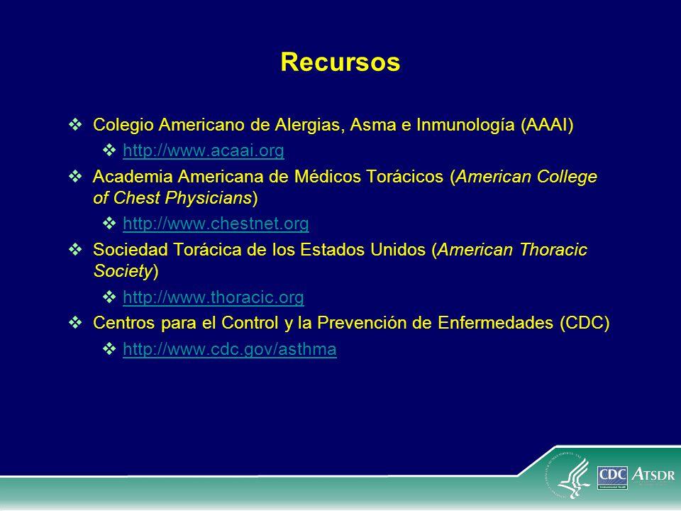 Recursos Colegio Americano de Alergias, Asma e Inmunología (AAAI)