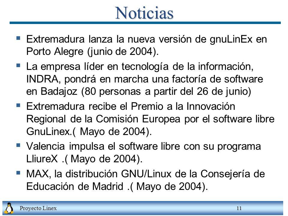 Noticias Extremadura lanza la nueva versión de gnuLinEx en Porto Alegre (junio de 2004).