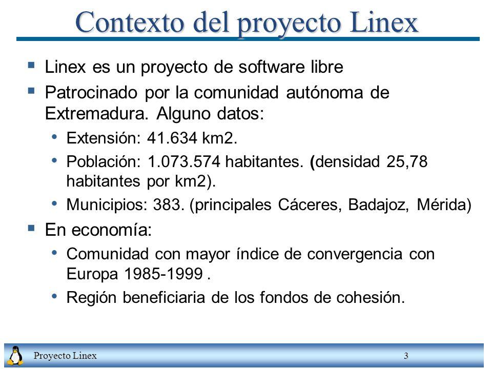 Contexto del proyecto Linex