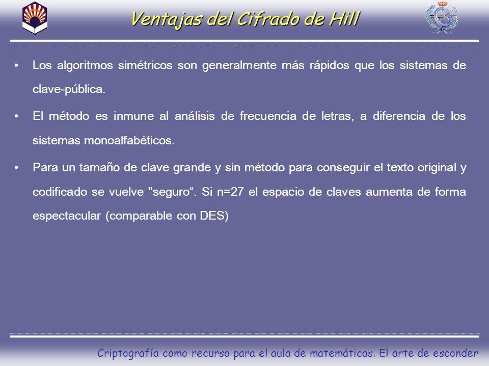 Ventajas del Cifrado de Hill