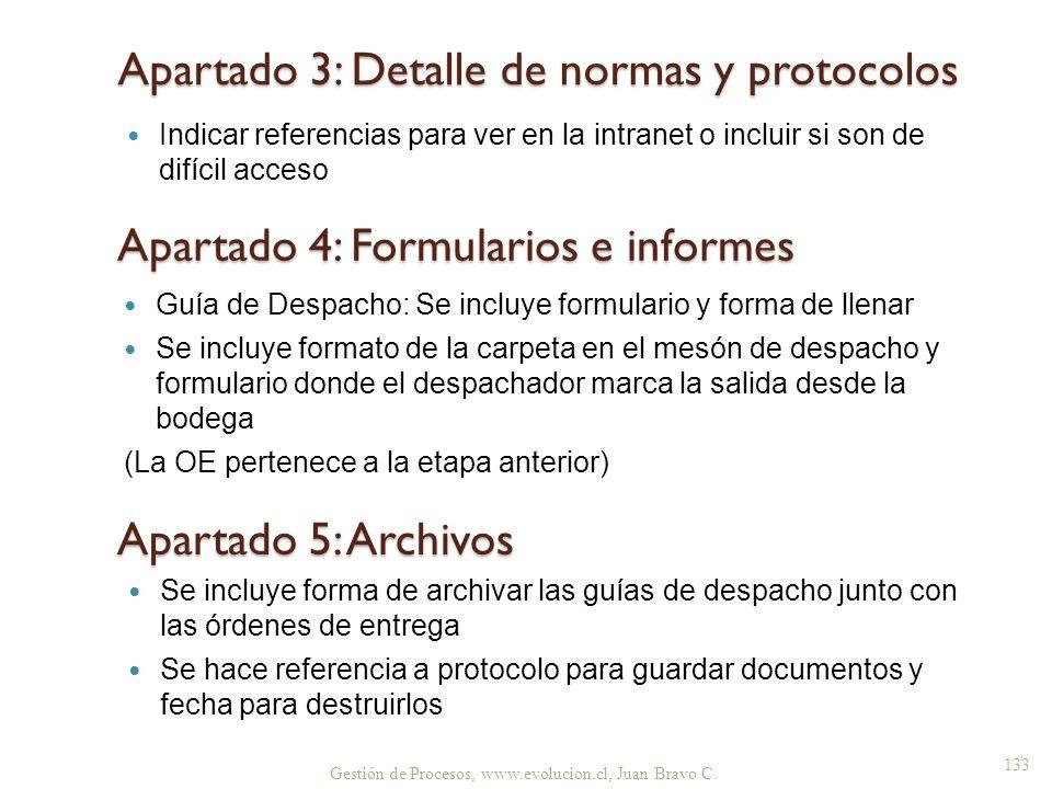 Apartado 3: Detalle de normas y protocolos
