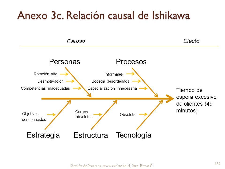 Anexo 3c. Relación causal de Ishikawa