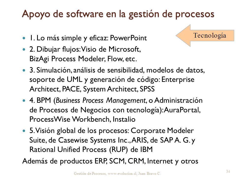 Apoyo de software en la gestión de procesos