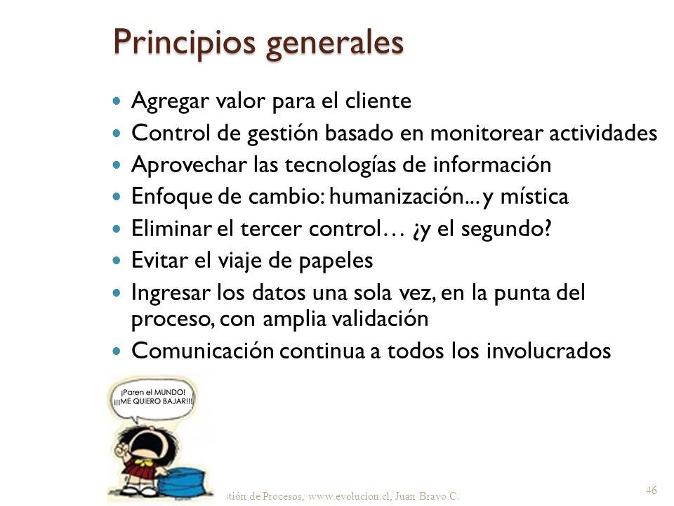 Principios generales Agregar valor para el cliente
