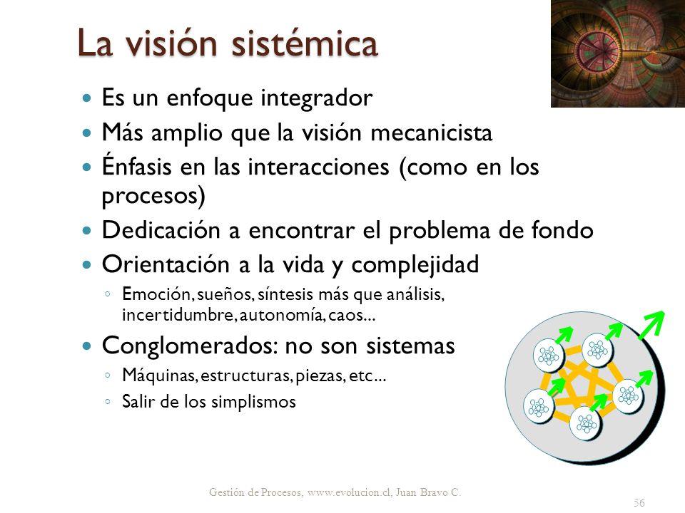 La visión sistémica Es un enfoque integrador