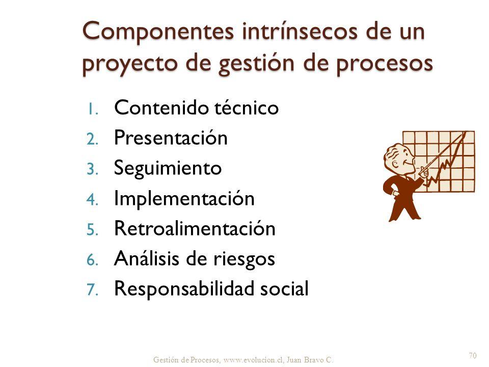Componentes intrínsecos de un proyecto de gestión de procesos