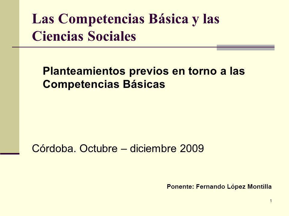 Las Competencias Básica y las Ciencias Sociales