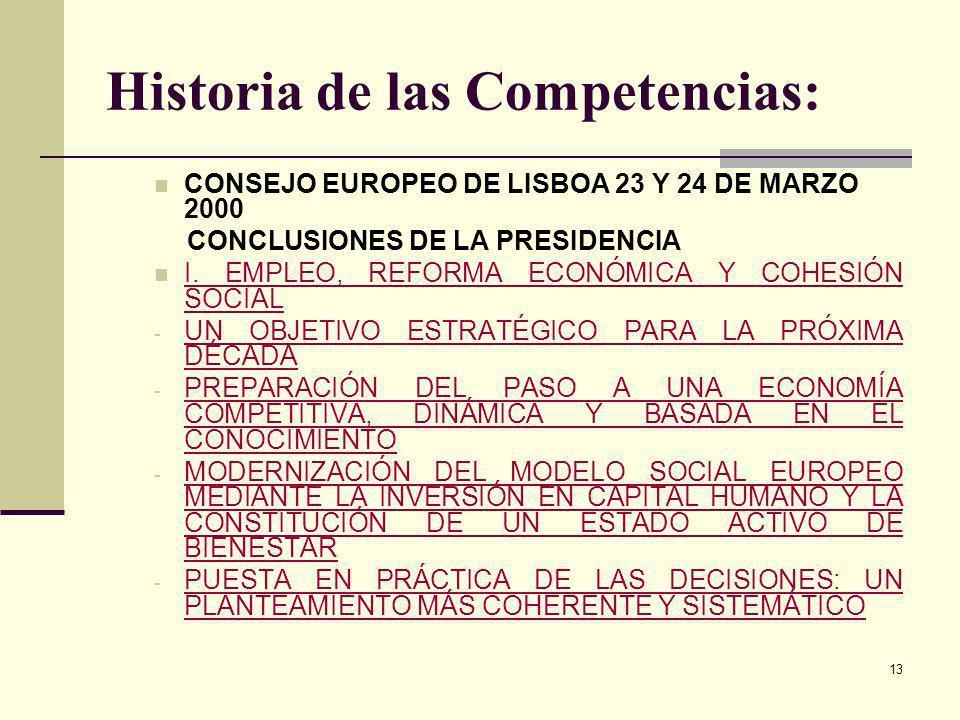 Historia de las Competencias: