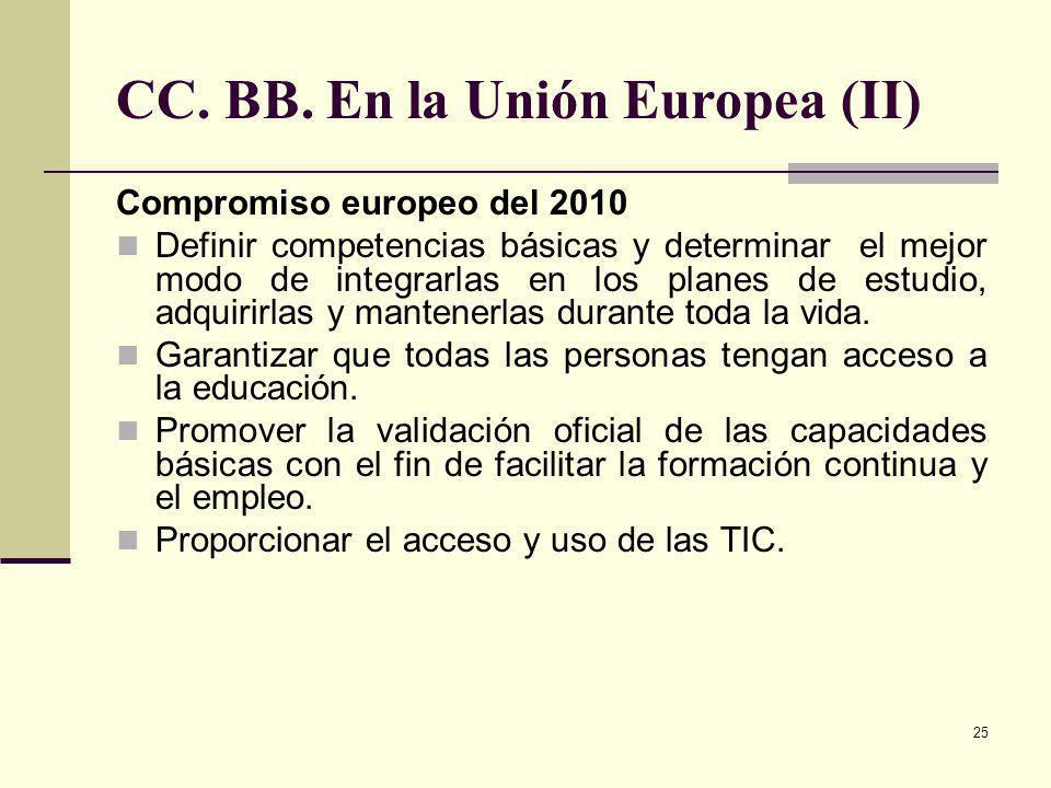 CC. BB. En la Unión Europea (II)