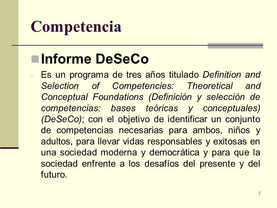 Competencia Informe DeSeCo