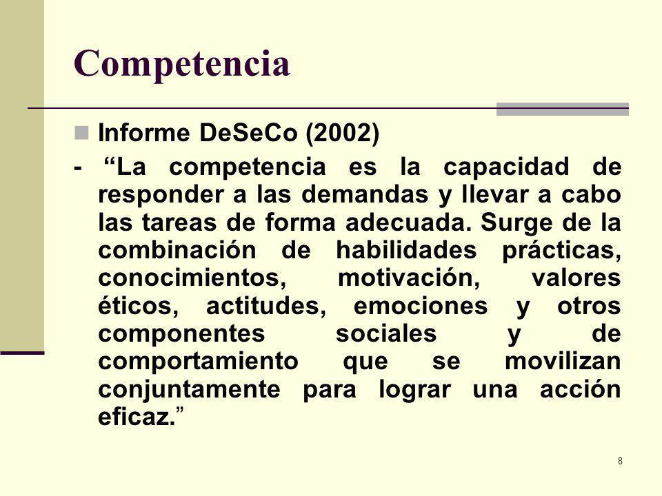 Competencia Informe DeSeCo (2002)