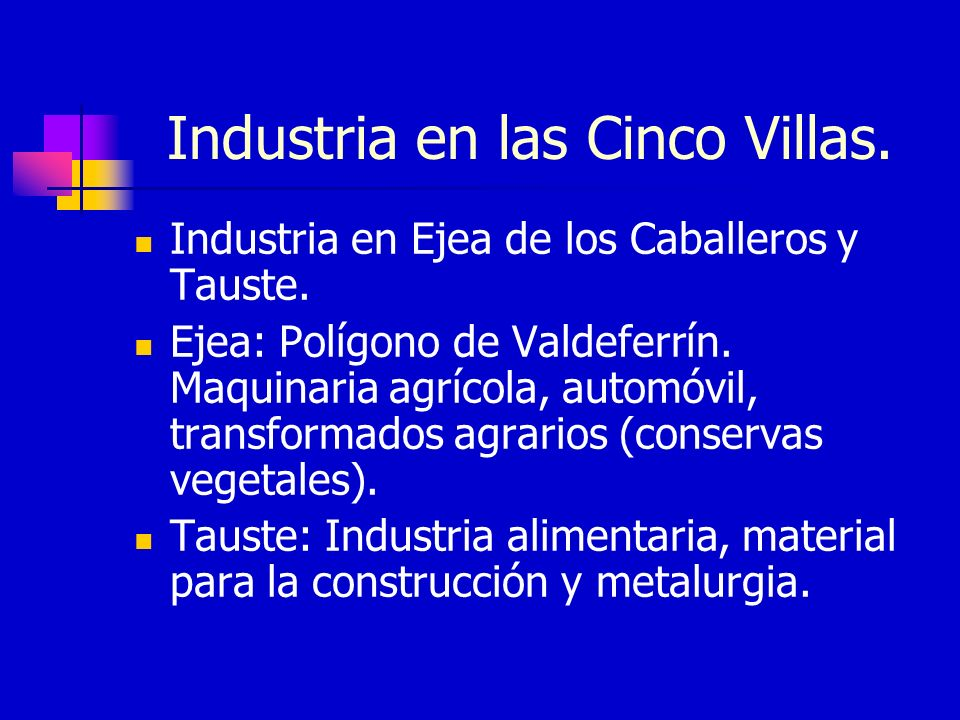 Industria en las Cinco Villas.
