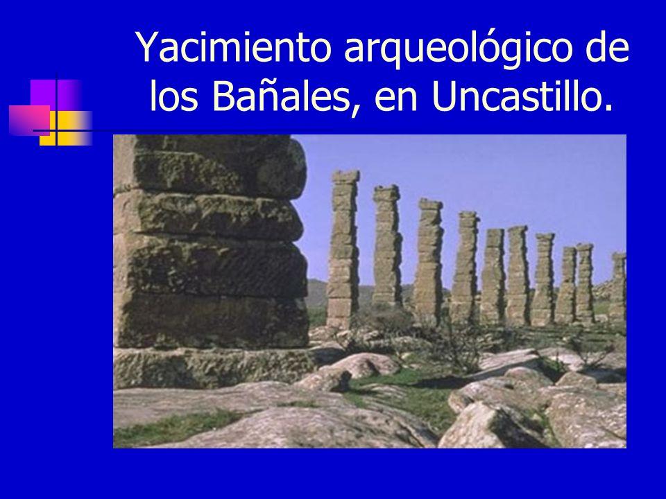 Yacimiento arqueológico de los Bañales, en Uncastillo.