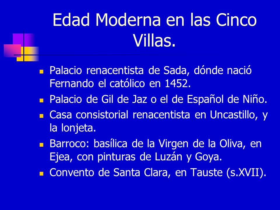 Edad Moderna en las Cinco Villas.