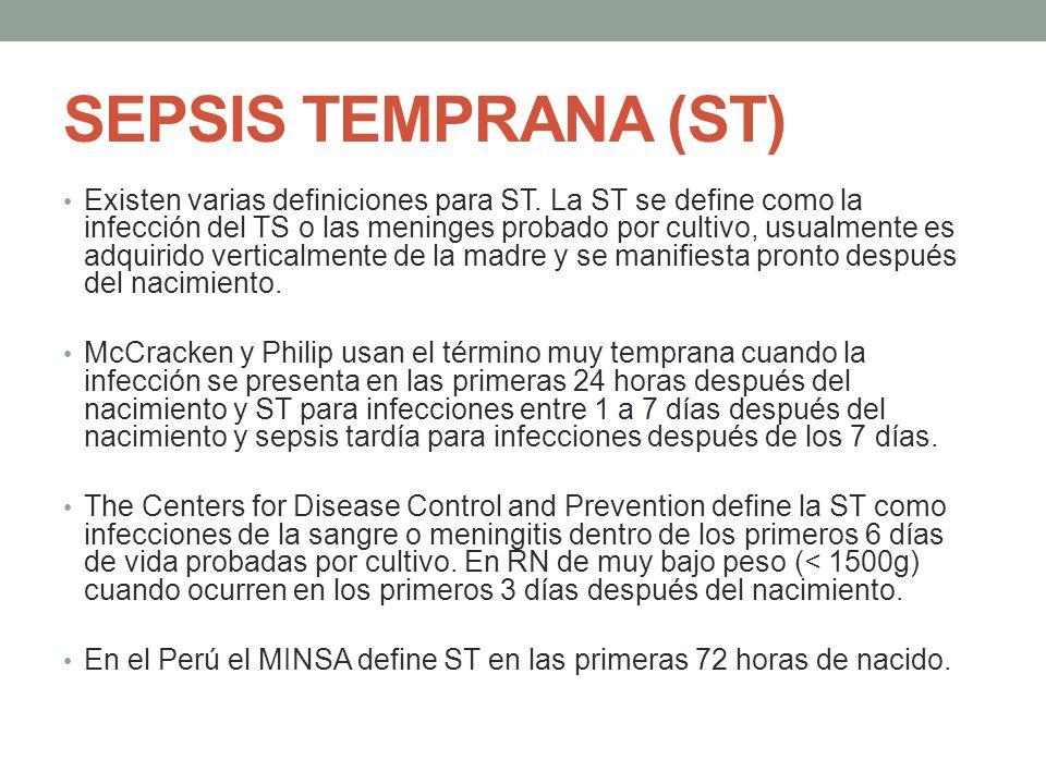 SEPSIS TEMPRANA (ST)
