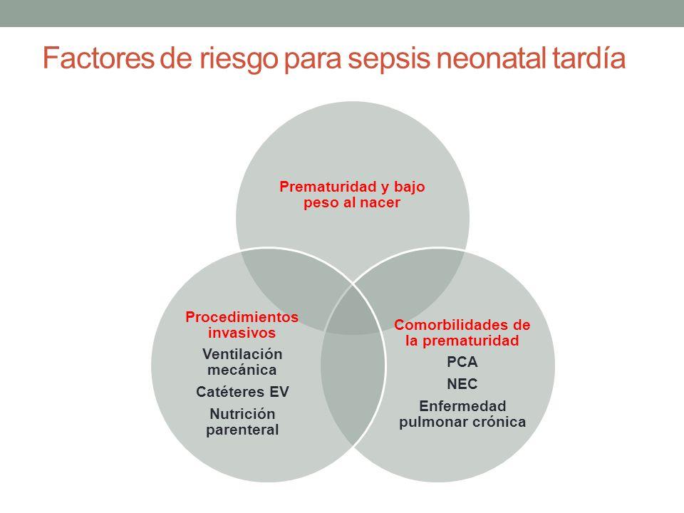 Factores de riesgo para sepsis neonatal tardía