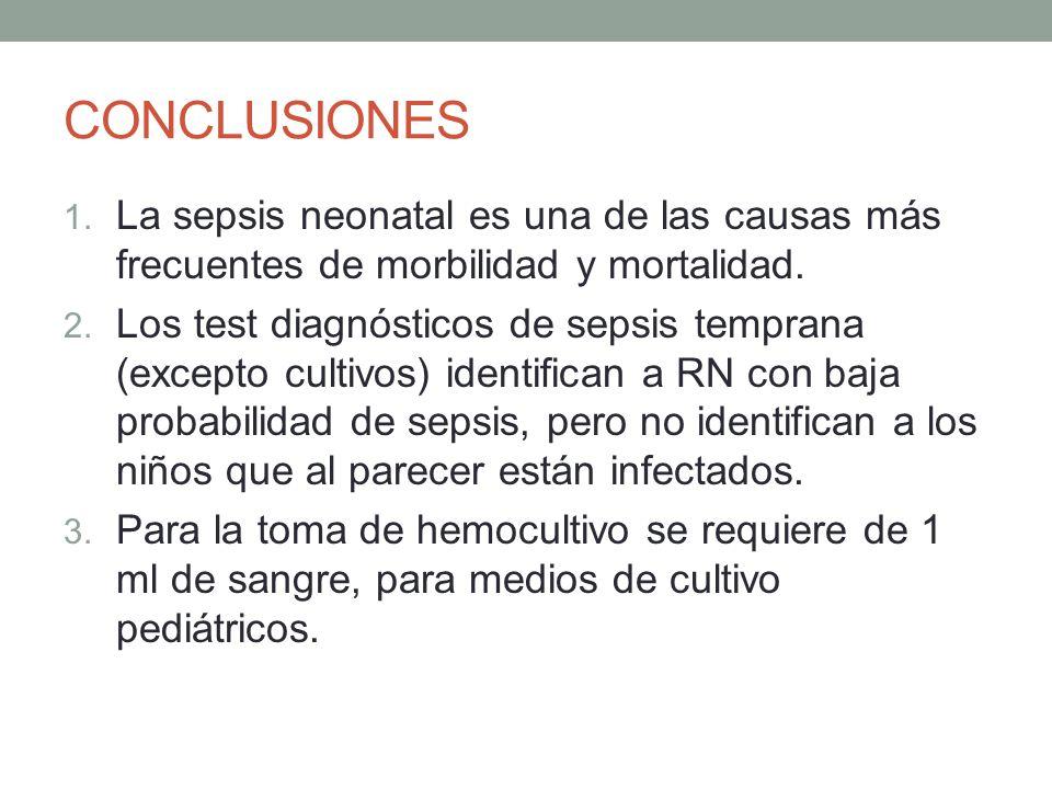 CONCLUSIONES La sepsis neonatal es una de las causas más frecuentes de morbilidad y mortalidad.