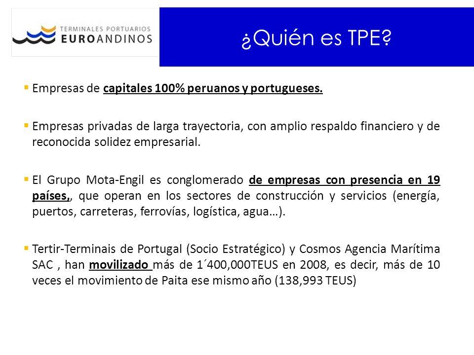 ¿Quién es TPE Empresas de capitales 100% peruanos y portugueses.