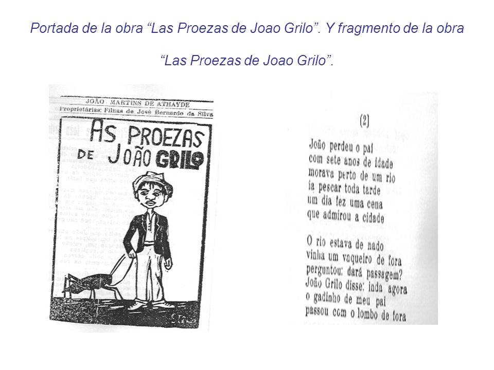 Portada de la obra Las Proezas de Joao Grilo