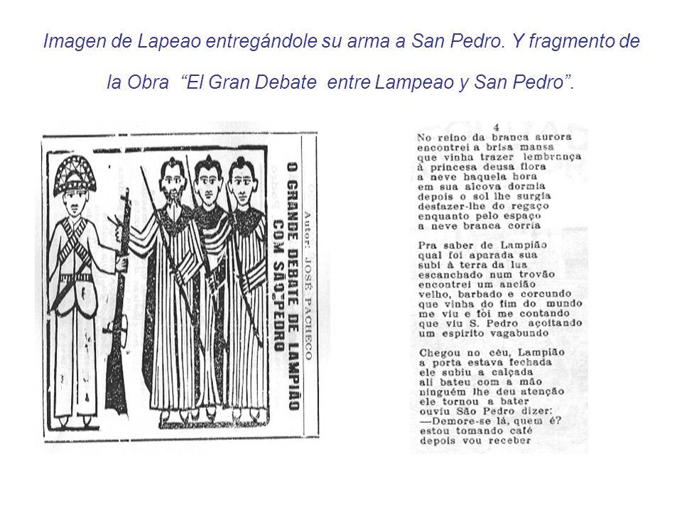 Imagen de Lapeao entregándole su arma a San Pedro