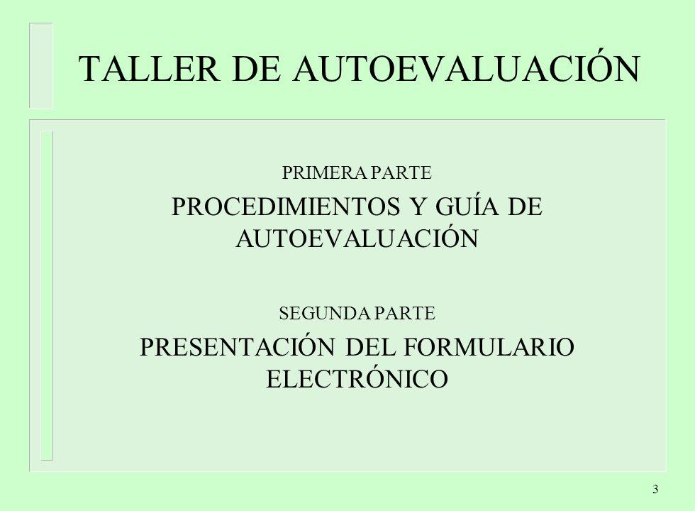 TALLER DE AUTOEVALUACIÓN