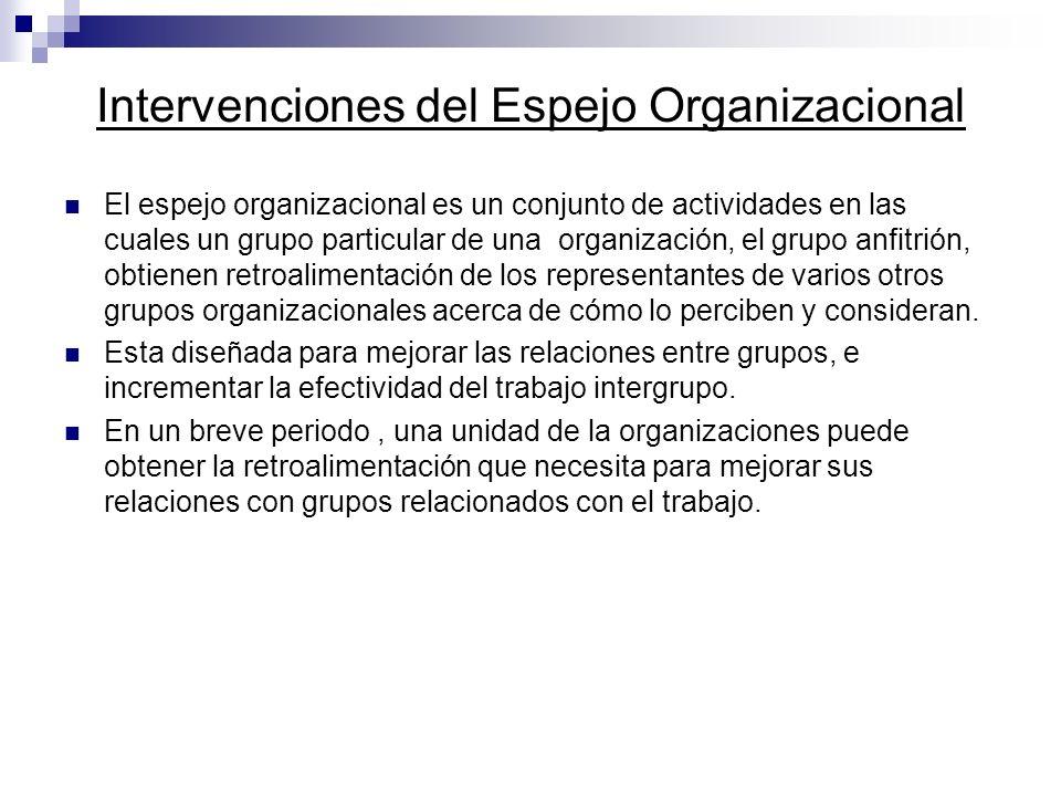 Intervenciones del Espejo Organizacional