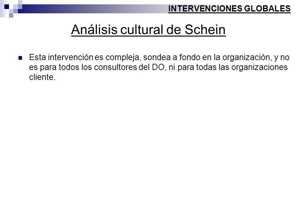 Análisis cultural de Schein