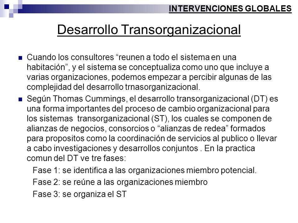 Desarrollo Transorganizacional