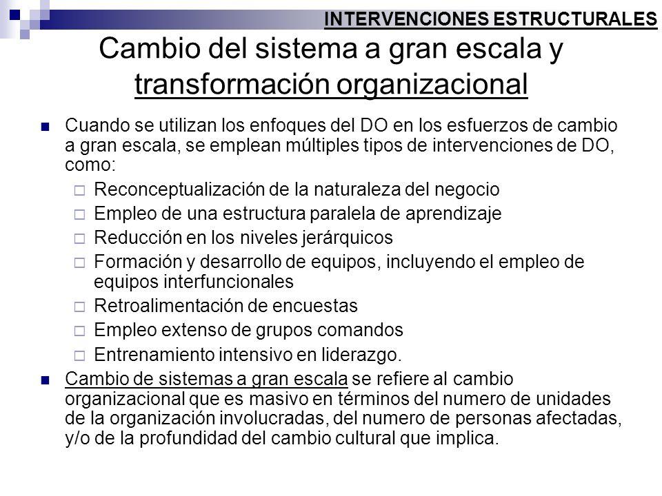 Cambio del sistema a gran escala y transformación organizacional